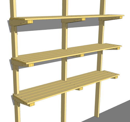 Simple wood shelves plans quick woodworking projects for Wood craft shelves