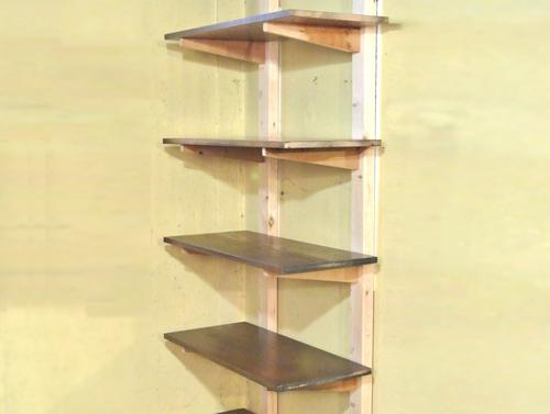 But given the right equipment for mortise and tenon joints, this type of  shelf is the quickest to ...
