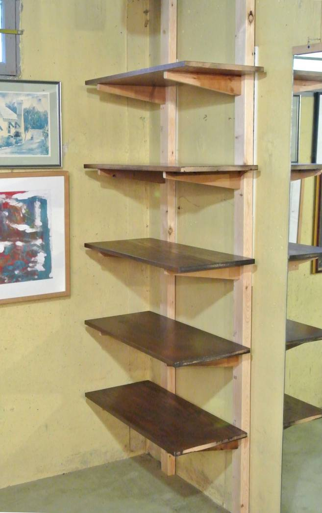 Quick shelves with mortise and tenon joints