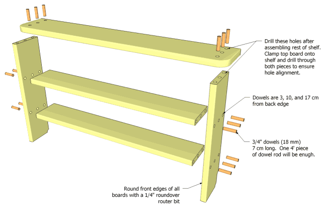 Low Bookcase Plans Free