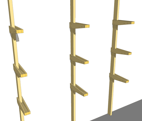 Once You Have The Posts With The Supports Attached, Attach The Posts To The  Wall. This Can Be A Simple Matter Of Nailing Or Screwing The Posts Onto The  ... Part 40