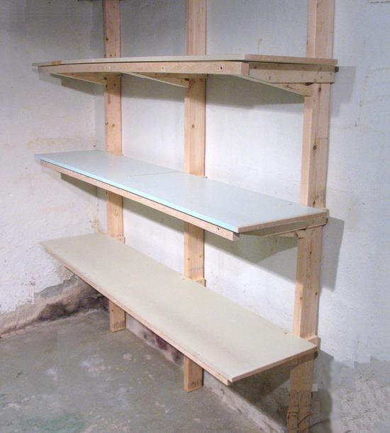 Ideas For Building Garage Shelves