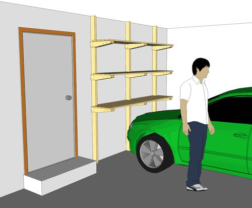 Magnificent Garage Shelves Plans 500 x 412 · 16 kB · png