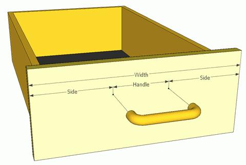 Measuring drawer handle holes