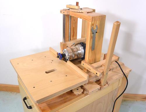 Horizontal router table for the slot mortiser