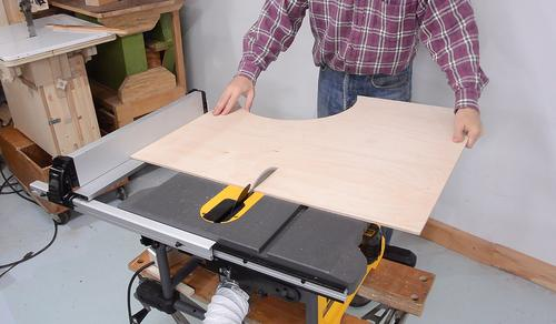 Making a table saw sled for the Dewalt FlexVolt saw