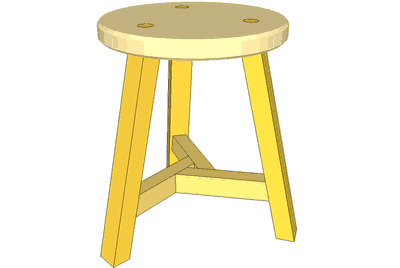 Phenomenal 3 Legged Stool Plans Beatyapartments Chair Design Images Beatyapartmentscom