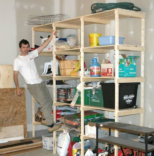 Tool Storage Shelves Woodworking Plan
