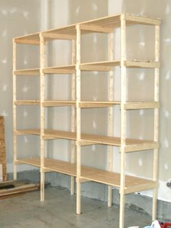 building garage storage shelves