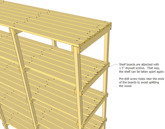 'ladders' of the shelf are nailed and glued together, but the shelf ...