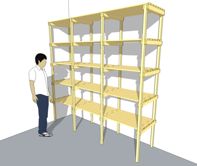 storage shelves plans wood