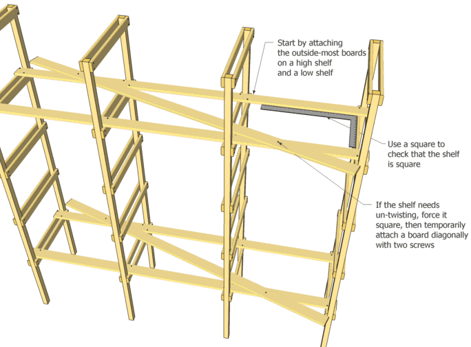 Storage Shelf Plans Rh Woodgears Ca Build Wooden Storage Shelves Plans For Plywood  Storage Shelves