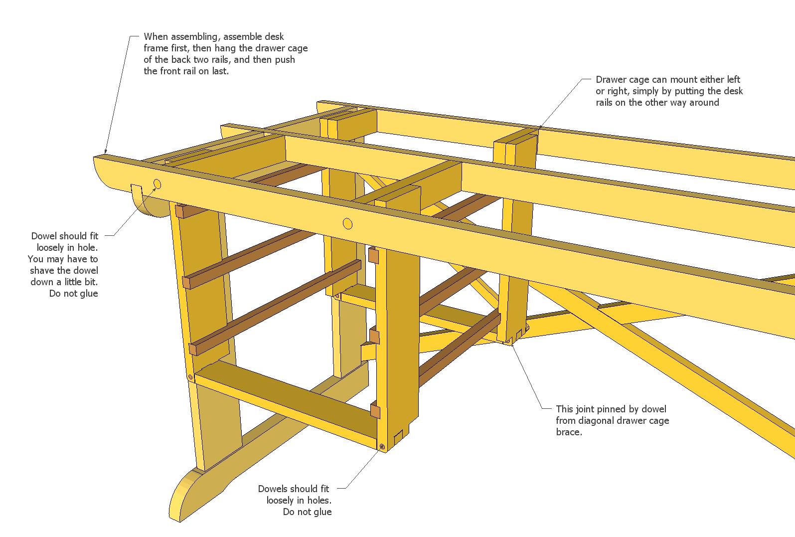 woodworking plans computer desk free