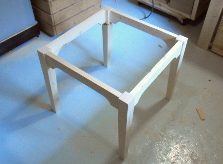 Building a children's table.