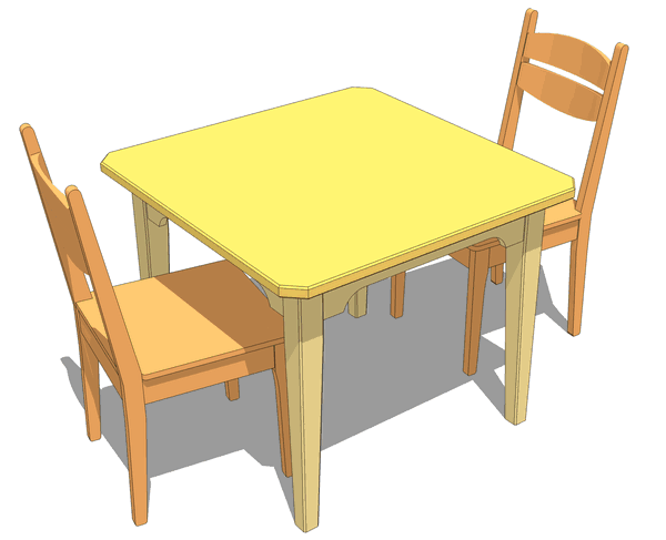 based on my kids table plans but scaled up to a regular sized table