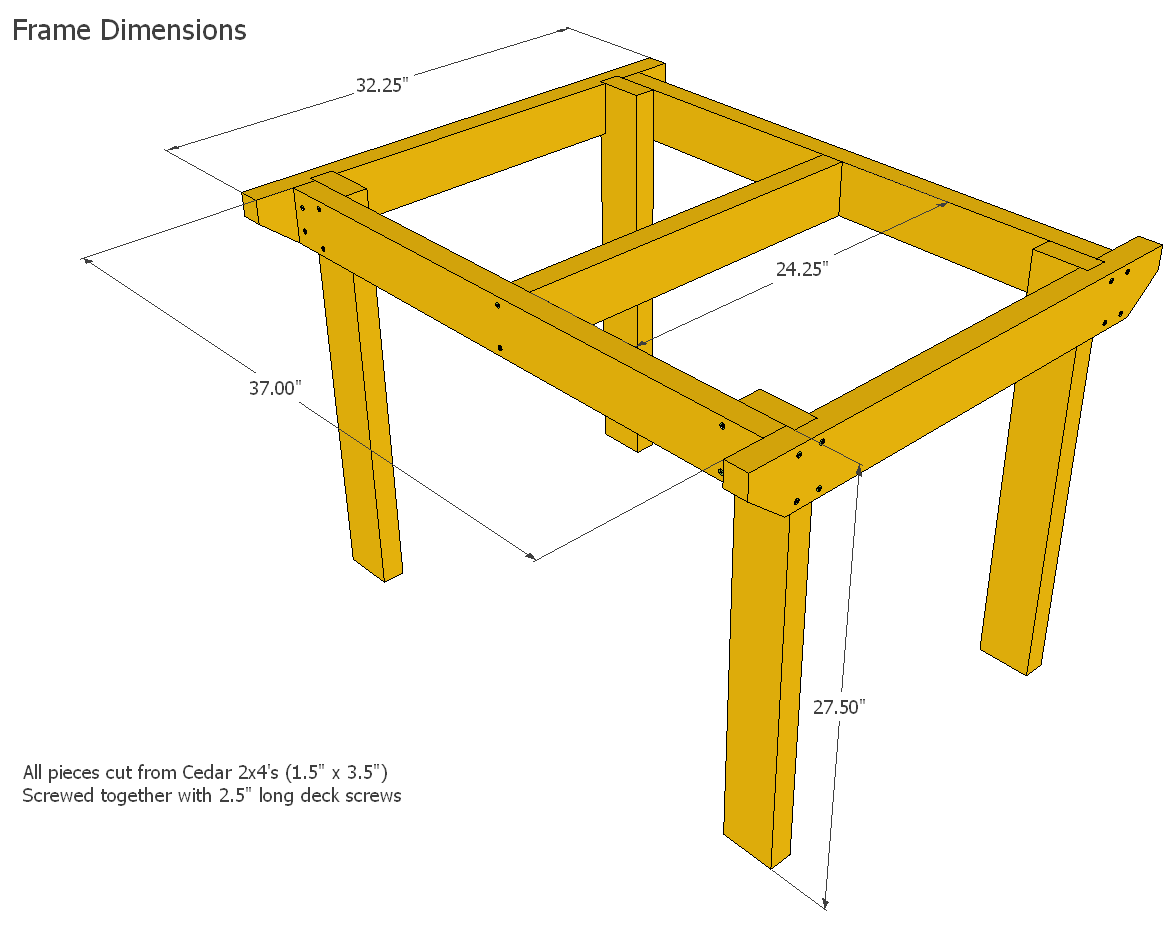 Patio Table Plans Desk Schematic Building The Frame