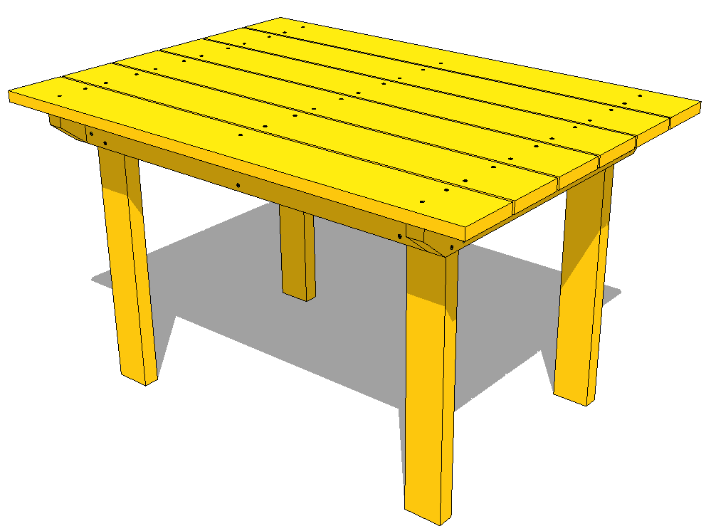 Patio table plans for Plan table en bois