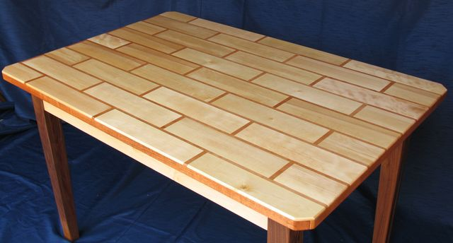 Building a tile patterned table top for Wood table top designs