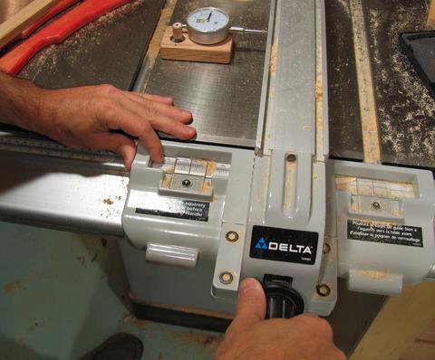 Table Saw Fence Micro Adjusting