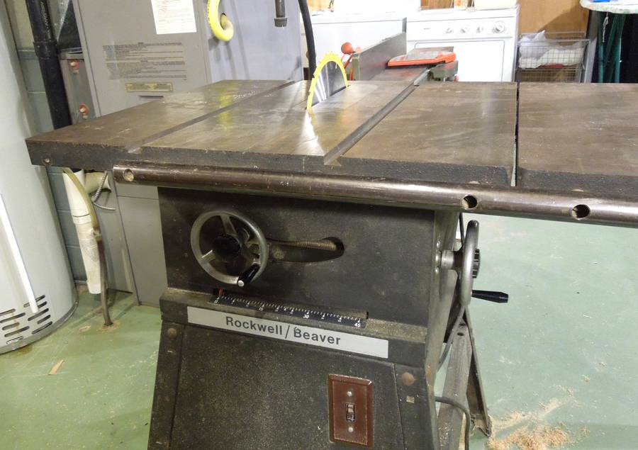 Table Saw Gears : Repairing an old rockwell beaver table saw