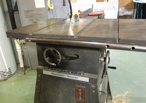 Repairing an old rockwellbeaver table saw greentooth Image collections