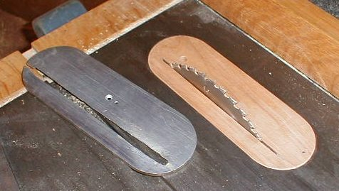 Table saw throat inserts