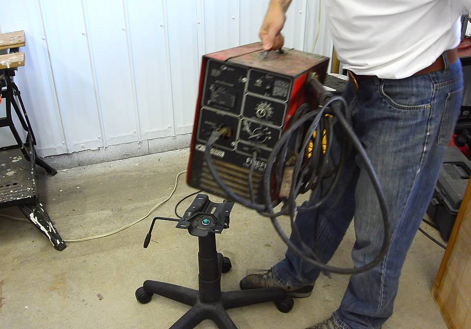 Office Chair To Welding Cart