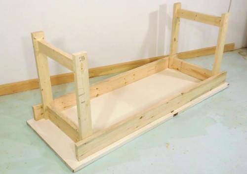 Como construir un banco de trabajo sencillo y resistente - Como hacer patas de madera para mesas ...