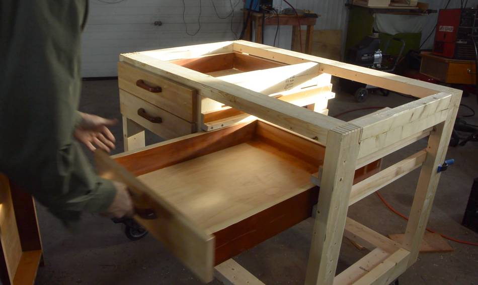 Drawers For The Workbench On Wheels