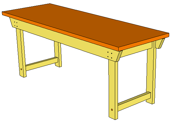 Permalink to plans to build a wooden workbench