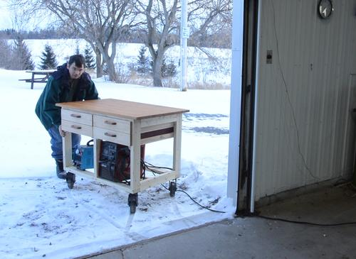 Incredible Workbench On Wheels Build Gmtry Best Dining Table And Chair Ideas Images Gmtryco