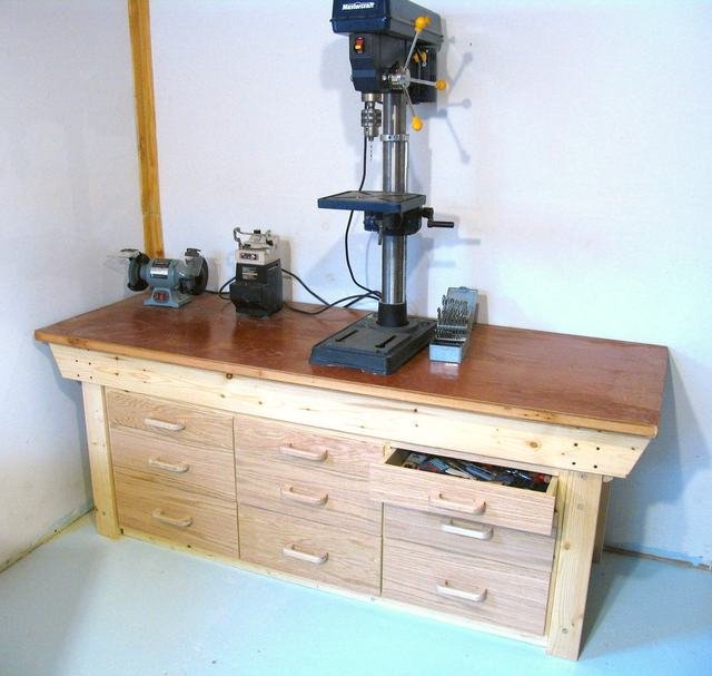 Workbench drawers