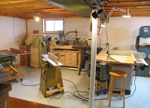 My basement workshop (2009)