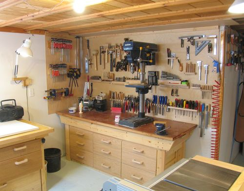 My basement workshop 2009 for Tools to build a house