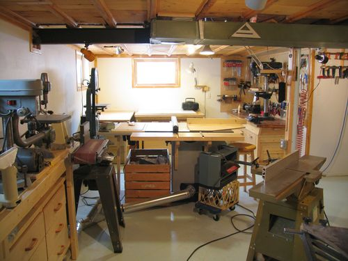 My basement workshop (2009)
